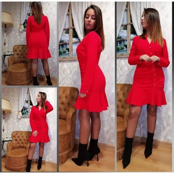 RED JANET DRESS