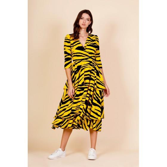 LONG TIGER DRESS